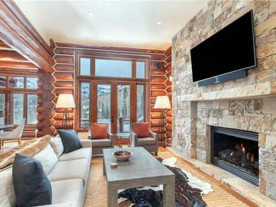 Photo for Ski-In/Ski-Out Pet-Friendly Log Townhome on Tristant's Slopeside Cul-de-Sac Walkway