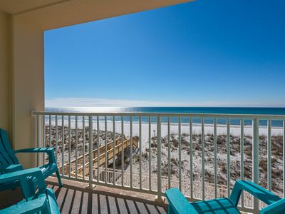 Photo for Sans Souci Gulf-front 2 bedroom with washer/dryer. 2nd floor condo. Free WiFi