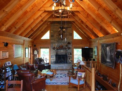Photo for NEW LISTING! Classic 4 Bedroom Cabin on Private 20 Acres | 20 Minutes to TIEC!