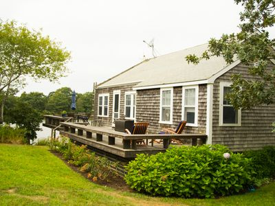 Photo for Waterfront House and Guest House/Boat to Beach