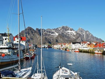 Henningsvaer Bridge, Henningsvaer, Norway