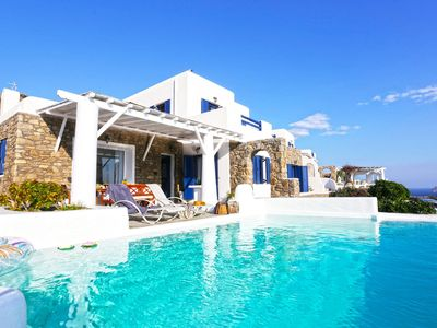 Photo for Panoramic Villa Alike to rent in Mykonos, with 5 bedrooms and private pool.
