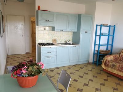 Photo for Superb three-room apartment with wonderful sea and gairdino views