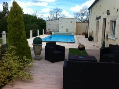 Photo for Large house with heated pool and garden near tourist places