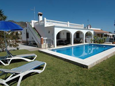 Photo for Villa Corbera in Nerja with great lawn area