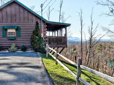 Photo for Gatlinburg Cabin with Views, Hot Tub, Pool Table, Smoky Mountains, 1 bed, 1 bath