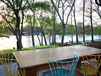 Photo for Sunset Lake Haus- Waterfront Home Only 6 Miles from Schlitterbahn!