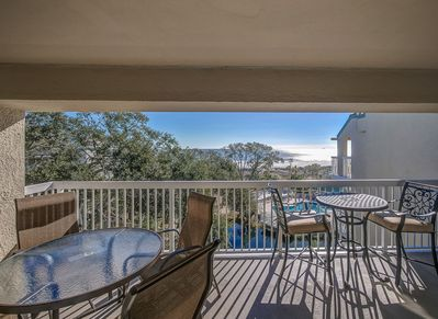 Private Balcony with Ocean Views at 502 Barrington Arms