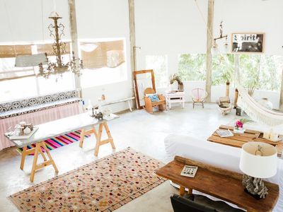 Photo for Cozy and spacious loft, lot of trees and birds close to the beach