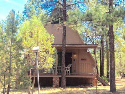 Photo for Cozy A Frame on 1 acre beautiful ponderosa and piñon pines, and junipers.