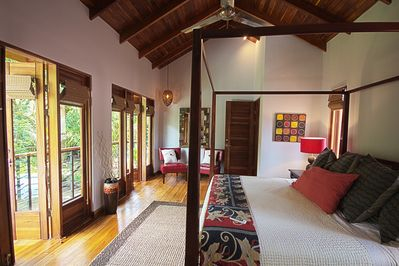 'Red' master with 2 French doors to large balcony.