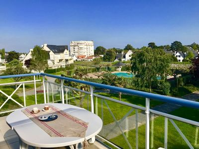 Photo for Bright apartment T3 in la Baule, with swimming pool and near the sea