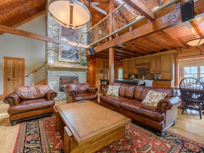 Photo for Upscale 6BR Ridgetop Estate in Banner Elk with Long Range Views, Hot Tub, Pool Table, Fire Pit