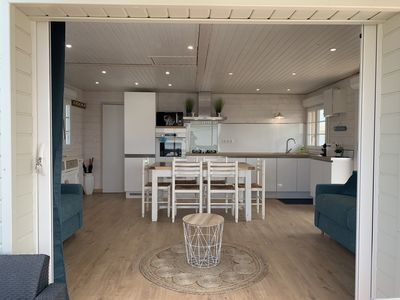 Photo for Authentic Chalet 8 pers. 3 bedrooms, covered terrace south, superb sea view wifi