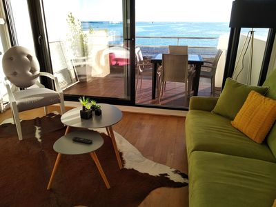 Photo for Instant privileges with this magnificent sea view. Private parking and downtown