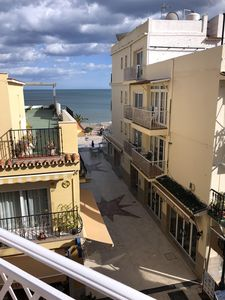 Photo for spacious Apartment, sleeps 6, 50mtrs Torremolinos beach, seaviews, community poo