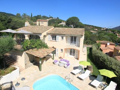 Photo for Large Provencal Villa 5* - beaches and downtown on foot - Pool - Ste Maxime
