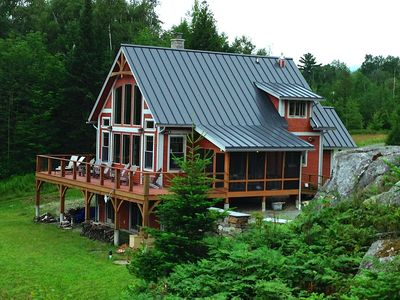 Photo for Gorgeous Luxury timberframe home with private waterfront & lake views