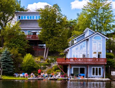 Photo for Kawartha Luxury Waterfront Home! Live In Boathouse! Pool Table, Fireplace, Canoe
