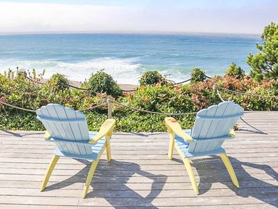 Photo for Luxurious Three-Suite Oceanfront Home with Hot Tub & Panoramic Ocean Views