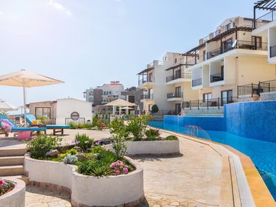 Photo for 2+1 apartment with sea view in Kalkan