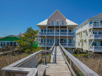 Photo for Oceanfront updated home with room for everyone, sleeps 25