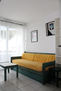 Photo for In small quiet residence facing the beach with beautiful terrace/private parking