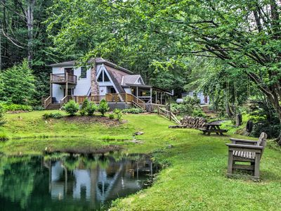 Photo for NEW! Serene Todd Home w/ Private Pond & Creek!