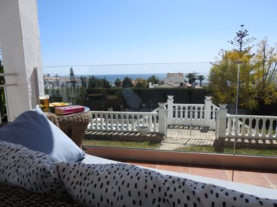 Photo for Large villa will swimming pool, garden and seaview. 900 meters to local beach