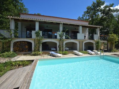 Photo for Characteristic house with private swimming pool in beautiful location in Ardèche