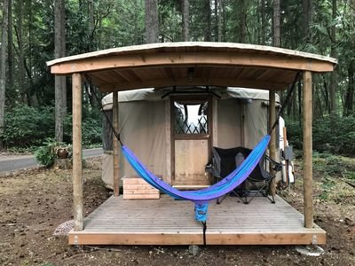 Photo for Glamping - Very Nice Yurt in Wooded Area with Puget Sound View