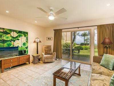 Photo for Kapaa Shore Resort #118, Ocean View, Walk to Town, Bike Path, Comp Wifi & Pkg