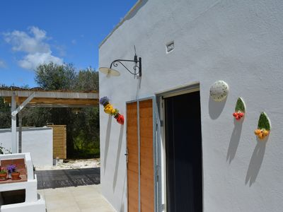 Photo for Tata Gino and Mamma Sina - Studio apartment among the olive trees, 1 km from the sea