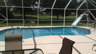 Photo for Spacious pool home on the golf course, minutes from everything!