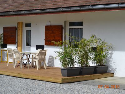 Photo for Cottage for 6 people in Domessin in a park facing bathing.