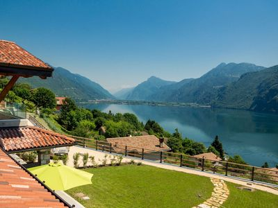Photo for Rocca d'Anfo lake view. CILIEGIO apartment with full lake view