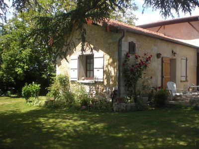 Photo for Cottage in a farm with swimming pool located in a Park with century-old cedars.