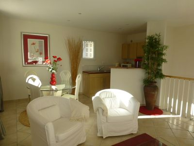 Photo for Bright and spacious apartment for 1 or 2 pers. countryside view
