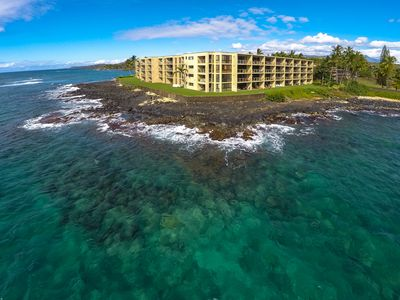 Photo for Best! Oceanfront, Ground 1st Floor. Beach. Surf. Panoramic views at Kuhio Shores