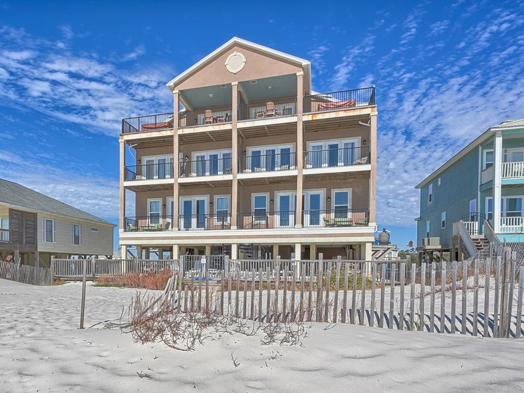 Beach Estate East Fort Morgan Gulf Front  HomeAway