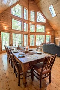 Photo for In-Town Log Cabin Home w/ Fire Place & Nature Views