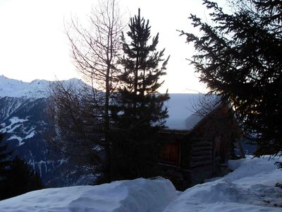 Photo for Traditional chalet located Chandolin, + highest village in Switzerland (2000 m)