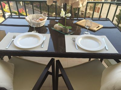 Enjoy your breakfast, lunch and dinner on the sunny terrasse