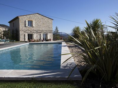 Photo for Beautiful bastide with panoramic views heated pool wifi indoor outside