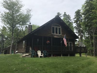 Photo for Waterfront Log Cabin with Private Dock and Game Room