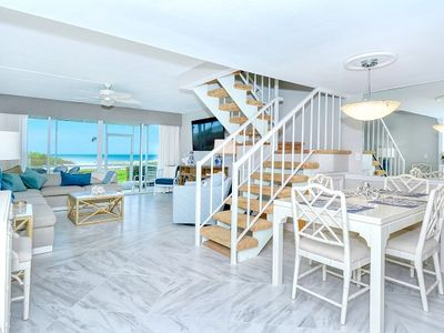 Dream views of the Gulf from your private balcony or screen lanai just steps from the beach.