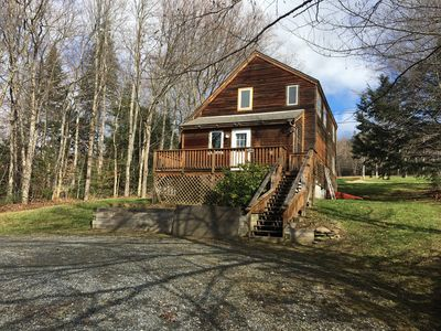 Front of Home with Circular Drive. Can accommodate Boat or SM trailers