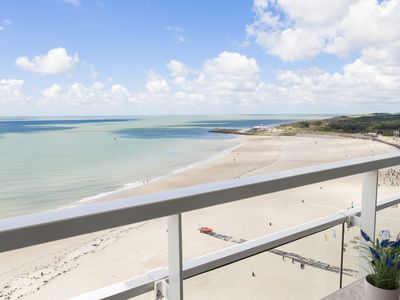 Photo for Apartment right on the beach, on the boulevard of Vlissingen