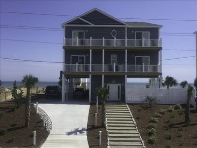 Photo for Shell Yeah, Emerald Isle handicap friendly oceanfront with private pool and space for 14 guests
