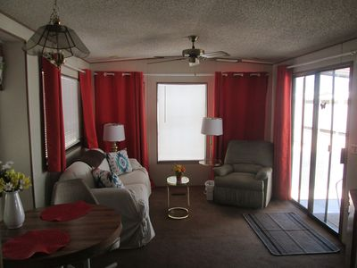 Photo for Newly refurbished ,1 bedroom Park Model , at Towerpoint Mesa's   top Rv resort.